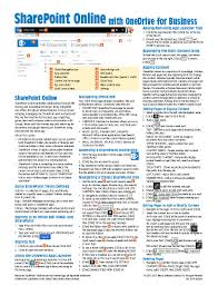 sharepoint 2013 quick reference cheat sheet guide card beezix