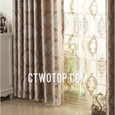 Brown Patterned Curtains Luxury Brown Patterned And Best Energy Saving Modern Basement