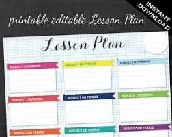printable homeschool lesson plan template homeschool student planner etsy