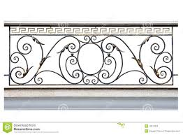 decorative fence of the balcony galleries stock photo image