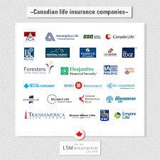 list of canadian life insurance companies