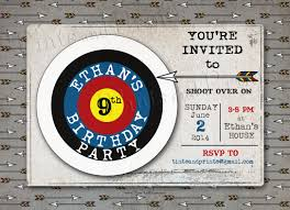 Birthday Cards Invitation Shoot Over For An Archery Party Custom Photo Card Invitation Design