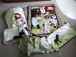 Crib Bedding Animals Nojo Farm Babies 5 Crib Bedding Set