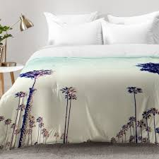 east home california palm trees comforter set reviews