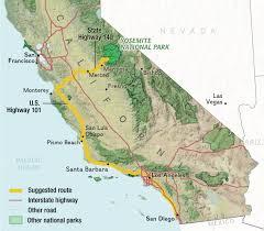 Map Of Yosemite California Road Trip San Diego To Yosemite