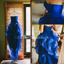 sweetheart royal blue cheap wedding dress organza puffy sale