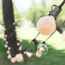 globe string lights brown wire duet globe string lights 100ft c7 brown wire g40 bulb pearl clear