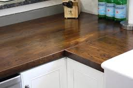 diy kitchen remodel staining butcher block countertops diy