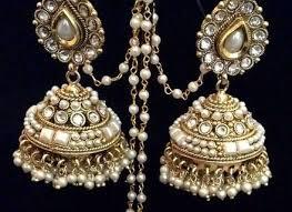 bridal jhumka earrings amazoncom pink gold jhumka earrings bridal jhumkas large dome