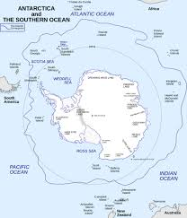 New Zealand And Australia Map Antarctic Circle Map Showing The Entire Icy Southern Continent