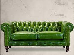 Best Reupholstery Images On Pinterest Green Velvet Sofa Blue - Hunter green leather sofa