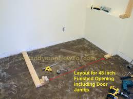 How To Cut Door Jambs For Laminate Flooring How To Build A Basement Closet Part 2