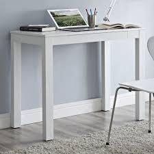 Small White Writing Desk Furniture Rectangle White Wooden Writing Desk With Single Drawer
