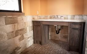 awesome barn wood rustic vanity with white porcelain top and