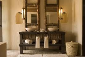 Rustic Bathroom Furniture Hotels Resorts Rattan Waste Bin Soft Pendant L Rustic Wood