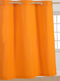 homescapes orange eyelet curtain pair 117cm 46