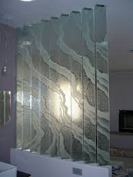 Decorative Wall Dividers Etched Decorative Art Glass Surges Wall Divider A Photo On