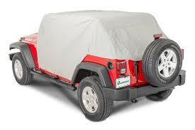lowered 4 door jeep wrangler rampage products 1164 waterproof cab cover for 07 17 jeep