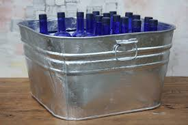 square galvanized tub square galvanized wash tub bucket outlet