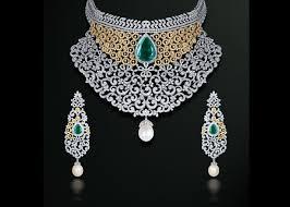diamond jewelry necklace images Gehna diamond jewellery necklace set south india jewels jpg