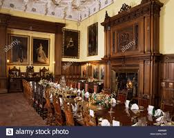 dining room set for private dinner glamis castle highland region