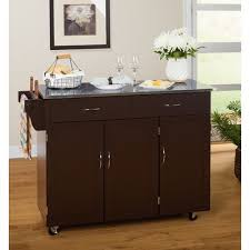 kitchen island with stainless steel top eira kitchen cart with stainless steel top reviews birch