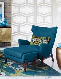 Teal Blue Accent Chair Furniture Patterned Club Chair Cheap Accent Chairs 50