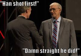 Han Shot First Meme - gyronnygeek s funny quickmeme meme collection