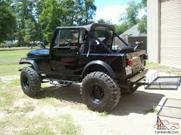 jeep jeepster lifted jeep cj7 hardtop v 8 38 5 tires lifted excellent shape