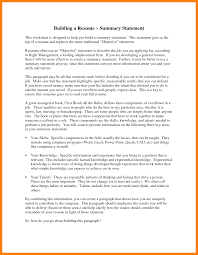 Objective Statements For Resumes Examples by 5 Resume Summary Statement Examples Basic Resume Layouts