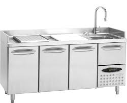 stainless steel prep table with sink riveting drawers and kitchen carts with islands and storage together