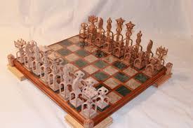 theme chess sets scroll saw pattern advanced chess set