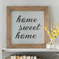 home sweet home decoration laurel foundry modern farmhouse home sweet home galvanized metal