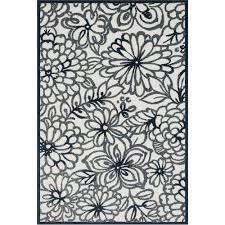 Floral Outdoor Rug Shop Navy Floral Stencil Outdoor Rug 5ft 2in X 7ft 5in Loloi