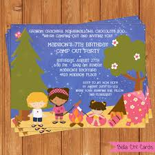 free printable camping birthday invitations kids birthday