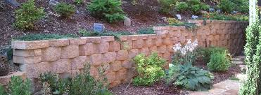 lawn n order snow retaining wall concrete block patio landscape