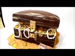 pirate treasure chest cake gold coins youtube