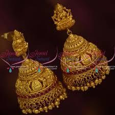 jhumkas earrings j9719 nakshi one gram temple god design big size lock jhumka