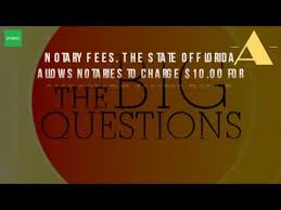 how much does a notary public charge in florida youtube