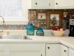 diy budget backsplash project how tos step white kitchen with fabric covered photo gallery backsplash