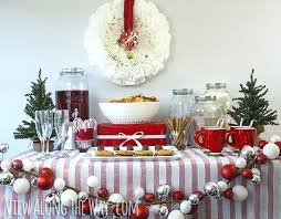 christmas party table decorations christmas party table decorations party food table decorations