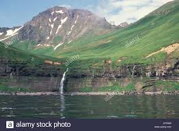 Aleutian Islands Map Na Usa Alaska Aleutian Islands Unalaska Island Waterfall