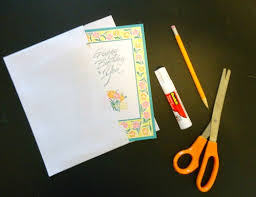 make your own greeting card envelope