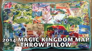 Magic Kingdom Map Orlando by 2014 Walt Disney World Magic Kingdom Map Throw Pillow Country Bear