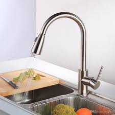 best newest pull out spray kitchen faucet mixer tap brushed nickel