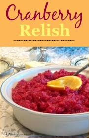cranberry relish recipe whats cooking america