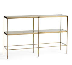 Metal Console Table Leona Console Table Pottery Barn