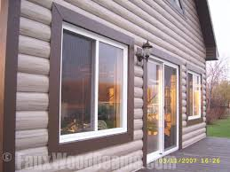 Log Siding For Interior Walls Log Style Vinyl Panels Rustic Cabin Look For Less