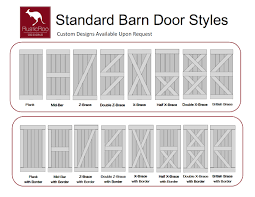 Half Barn Door by Rusticroo Designs Standard Barn Door Styles Barn Doors