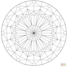 mosaic stained glass coloring page free printable coloring pages